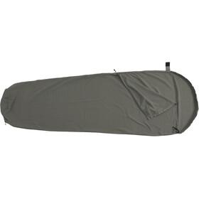 Basic Nature Cotton Sleeping Bag Liner Mummy Shape anthracite